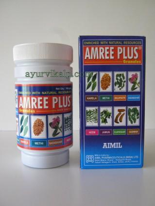 AIMIL AMREE PLUS Granules, 100gm, Regulates Glucose & Lipid Metabolism