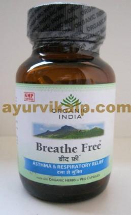Organic India BREATHE FREE, 60 Capsules for Allergic Asthma
