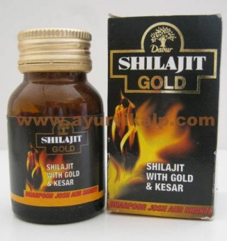 Dabur SHILAJIT GOLD, 20 Capsules, Powerful Formula with Gold & Saffron