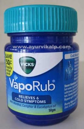 Vicks VapoRub, 50g, Relieves Cold Symptoms