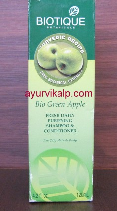 Biotique BIO GREEN APPLE Fresh Daily Purifying Shampoo & Conditioner for oily Hair