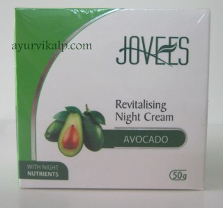 Jovees Revitalising Night Cream AVOCADO 50gm