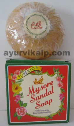 Mysore Sandal Soap, 150g, Only Soap with Pure Sandalwood Oil