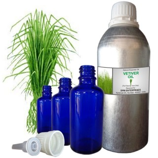 VETIVER OIL, Chrysopogon Zizanioides, 100% Pure & Natural Essential Oil