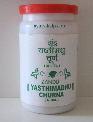 Zandu YASTHIMADHU Churna, Indian Licorice Powder (Glycyrrhiza Glabra) Useful In Cough, Asthma & Hoarseness