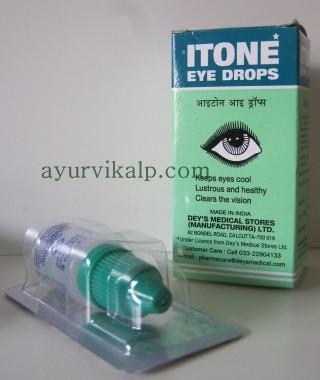 ITONE Ayurvedic Eye Drops - Antiseptic eye drops & Non-irritant