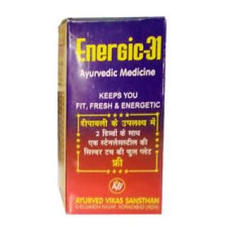 Ayurved Vikas Sansthan, Energic- 31, Herbal Shilajit 80 Capsules For Men & Woman