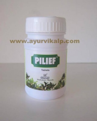 Charak PILIEF, 40 Tablets, for Internal & External Piles