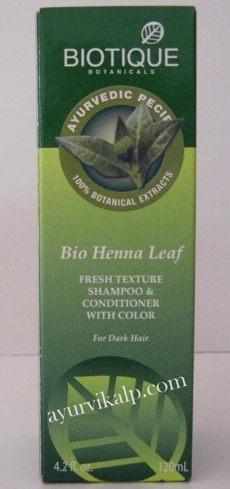 Biotique Henna Leaf Fresh Texture Shampoo Conditioner With Color