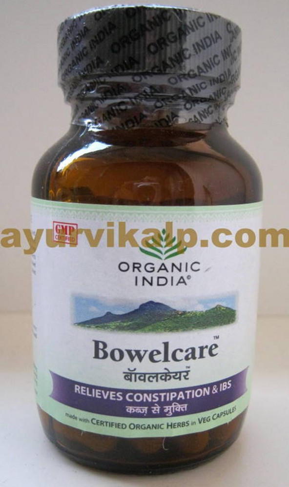 Organic India BOWELCARE, 60 Capsules, for Chronic Constipation