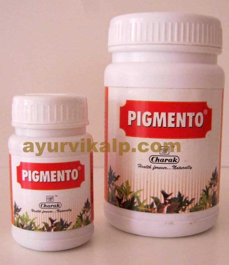 Charak PIGMENTO, 40 & 200 Tablets, Top Rated Remedy for Leucoderma, Vitiligo