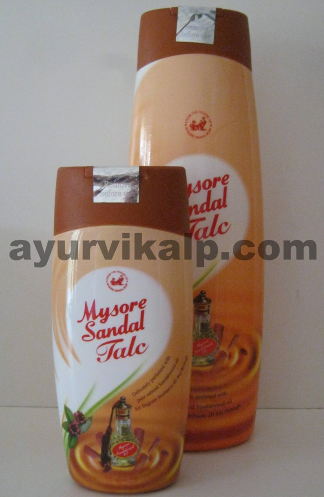 Mysore Sandal Talc, 300gm & 100gm, Delicately perfumed ...