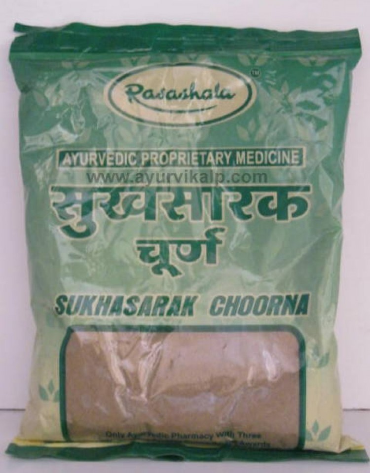 SUKHASARAK Choorna, Ayurveda Rasashala, 100 gm, For Gases And Acidity