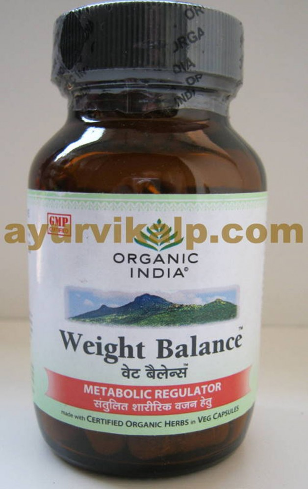 Organic India Weight Balance 60 Capsules For Excess Weight And Obesity
